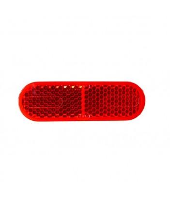 LUCE POSIZIONE ROSSA 5 LED 12/24V BASE ROSSA ADESIVA