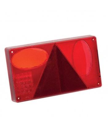 FLEXIPOINT 2 LED BIANCO/ROSSO 12/24V BASE NERA
