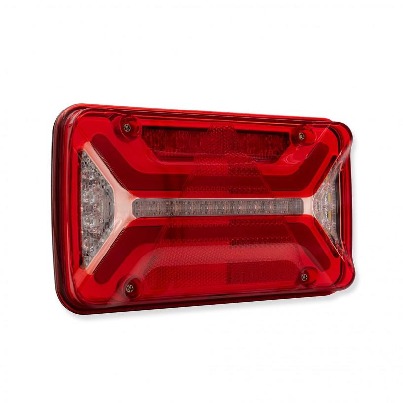 ECOLED 2 SX 12/24V CORNETTO LED CON 4 CONNETTORI ASS2 E SMCG