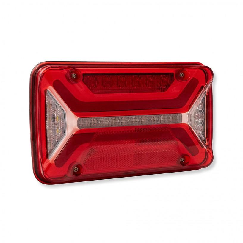 ECOLED 2 SX 12/24V 7 POLI AMP 4 CONNETTORI 2 POLI CON SMCG CON CORNETTO LED
