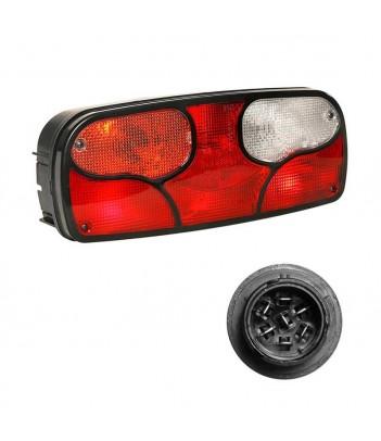 ECOLED 2 DX 12/24V CON CORNETTO LED E 4 CONNETTORI 2 POLI E SMCG