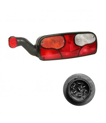ECOLED 2 SX 12/24V CONNETTORE 7 POLI AMP