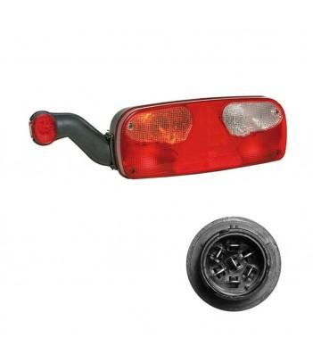 UNIPOINT 1 LED ARANCIONE 24V CAVO 1,5M P&R CON STAFFA 90° RIVOLTA POSTERIORMENTE