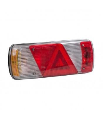 FLATPOINT 1 LED ARANCIONE 24V CAVO 0,5M P&R CON PROTEZIONE