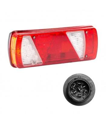UNIPOINT 1 LED ARANCIONE 24V CAVO 0,5M P&R CON STAFFA 90° RIVOLTA ANTERIORMENTE