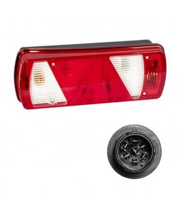 FLATPOINT 1 LED ARANCIONE 24V CAVO 0,5M P&R CON STAFFA