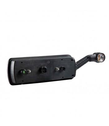 FLATPOINT 2 LED ARANCIONE 12/24V CAVO 0,5M DC CON STAFFA 90° ANTERIORE