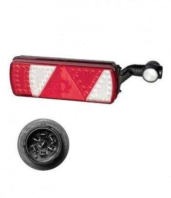 UNIPOINT 1 LED ARANCIONE 24V CAVO 1,5M P&R