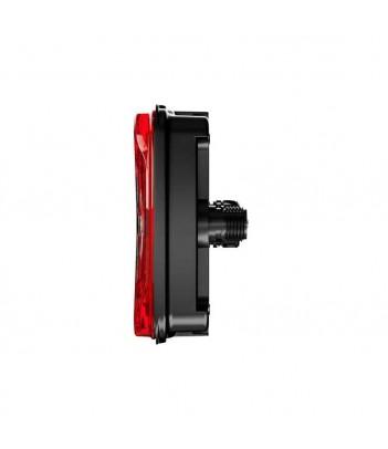 FLATPOINT 2 LED ARANCIONE 24V CAVO 1,5M P&R CON STAFFA 90° ANTERIORE
