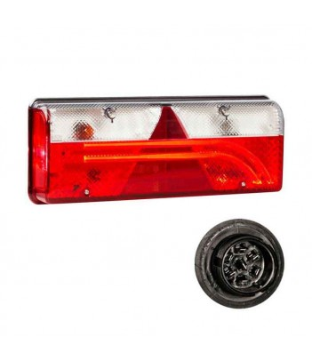 FLATPOINT 2 LED ROSSO 24V CAVO 0,5M P&R