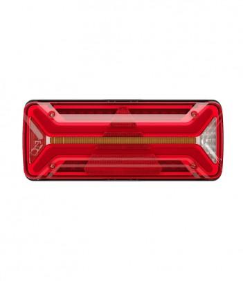 FLATPOINT 2 LED ARANCIONE 24V CAVO 0,5M P&R CON STAFFA 90° RIVOLTA ANTERIORMENTE