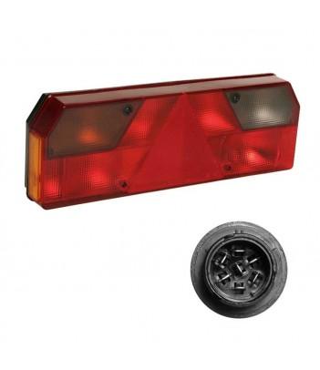 FLATPOINT 2 LED ARANCIONE 24V CAVO 1,5M P&R CON STAFFA 90° RIVOLTA ANTERIORMENTE