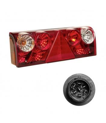 FLATPOINT 2 LED ARANCIONE 12/24V CAVO 0,5M DC CON STAFFA 90° RIVOLTA ANTERIORMENTE