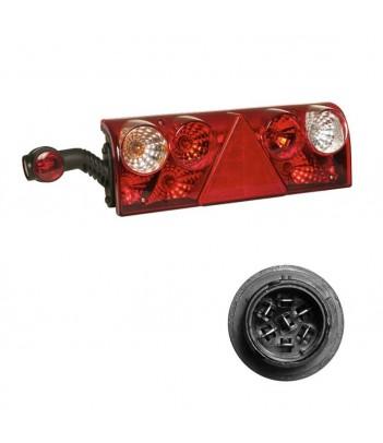 UNIPOINT LED ROSSO 24V CAVO 3,5M P&R SENZA CATADIOTTRO