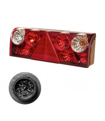 FLATPOINT 2 LED BIANCO 12/24V CAVO 1,0M DC