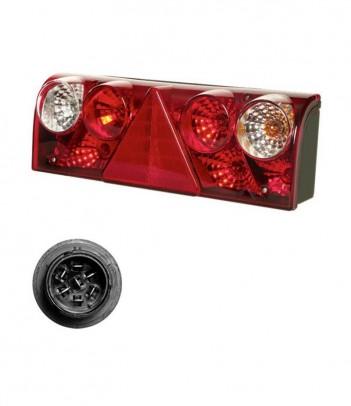 FLATPOINT 2 LED BIANCO 24V CAVO 0,5M P&R CON STAFFA 90°