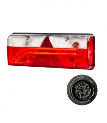 INPOINT 3 LED OVALE CORTO 12/24V 700 LUMEN CON SENSORE MOVIMENTO