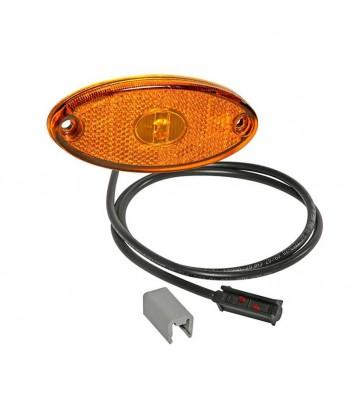 DIREZIONALE RETTANGOLARE LED ARANCIONE 12/24V